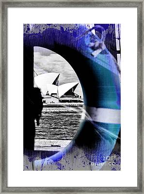 Opera House Rescue Framed Print by Az Jackson