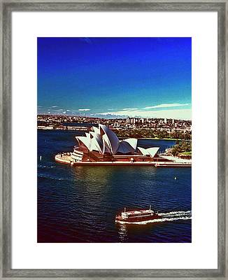 Framed Print featuring the photograph Opera House Sydney Austalia by Gary Wonning
