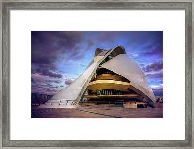 Opera House Valencia  Framed Print by Carol Japp