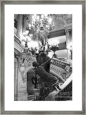 Opera Staircase Framed Print by Louise Fahy