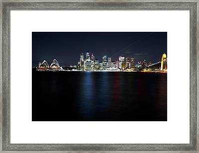 Harbour Streak Framed Print