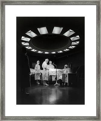 Framed Print featuring the photograph Operating Room Theater 1933 by Daniel Hagerman