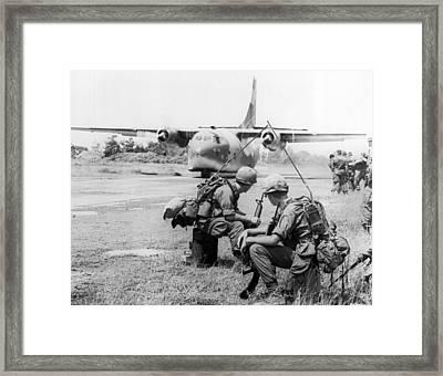 Operation Attleboro Airlift Framed Print