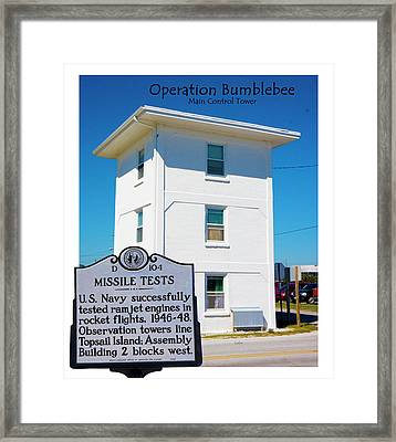 Operation Bumblebee Control Tower Framed Print by Betsy Knapp
