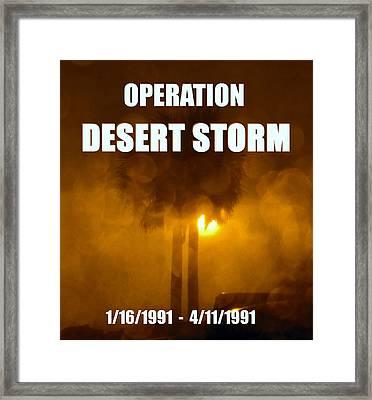 Operation Desert Storm  Framed Print