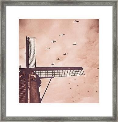 Operation Market Garden   Battle Of Arnhem Framed Print by English School