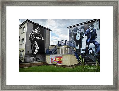 Operation Motorman Mural In Derry Framed Print by RicardMN Photography