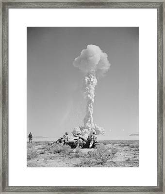 Operation Tumbler-snapper Atom Bomb, 1952 Framed Print by Us National Archives And Records Administration