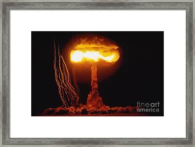 Operation Upshot Knothole, Climax Event Framed Print by Stocktrek Images