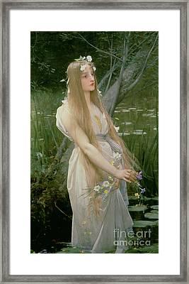 Ophelia Framed Print by Jules Joseph Lefebvre