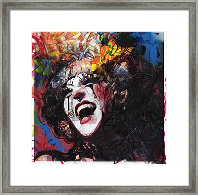 Ophelia Remixed Framed Print by Eddie Rifkind