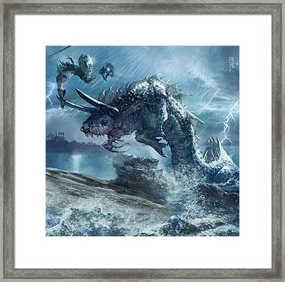 Ophiotaur Attack Framed Print by Ryan Barger