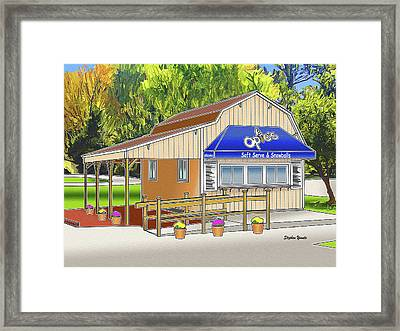 Opie's Snowball Stand Framed Print by Stephen Younts