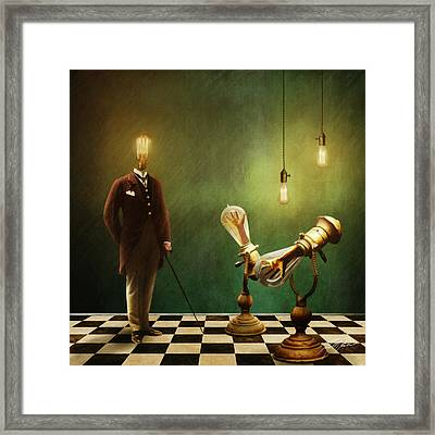 Opitcal Hands Framed Print by Tony Fowler