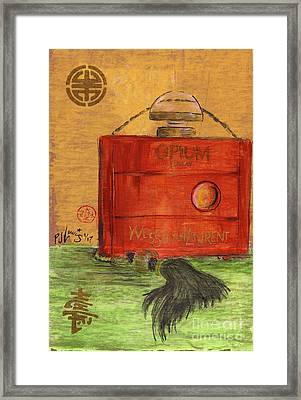 Framed Print featuring the painting Opium by P J Lewis