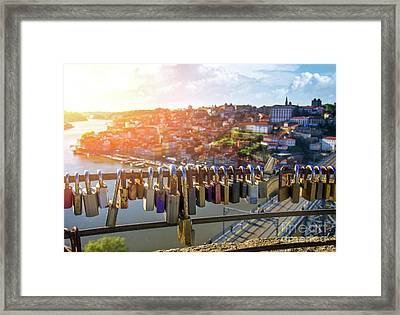 Oporto Is For Lovers Framed Print by Carlos Caetano
