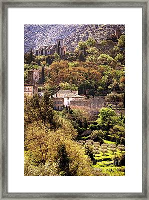 Oppede Le Vieux Landscape Framed Print by Olivier Le Queinec