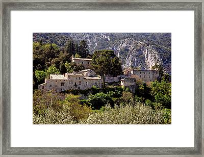 Framed Print featuring the photograph Oppede Le Vieux by Olivier Le Queinec