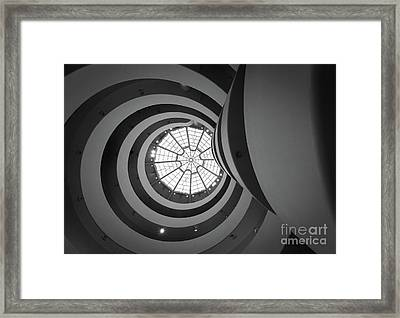 Opposing Circles Framed Print