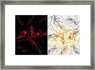 Opposing Forces Framed Print