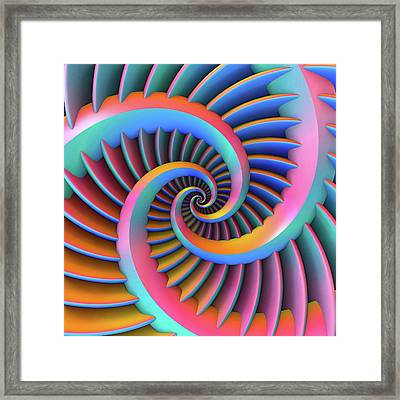 Framed Print featuring the digital art Opposing Spirals by Lyle Hatch
