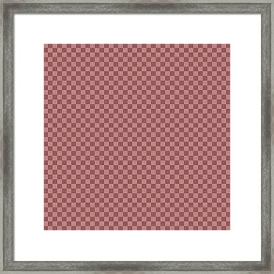Opposites Attract Checkerboard 10 X 10 In Pink Framed Print by Helena Tiainen