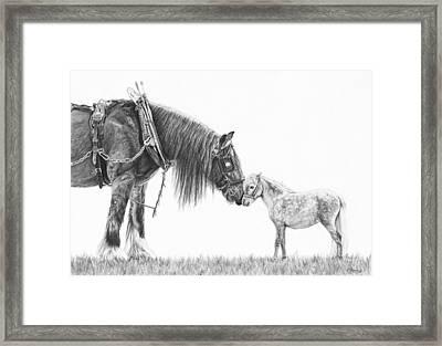 Opposites Attract Framed Print