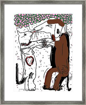 Opposites Attract Two Framed Print by Kathy Barney
