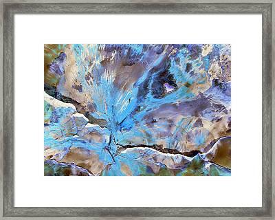 Cracking Glacier Framed Print