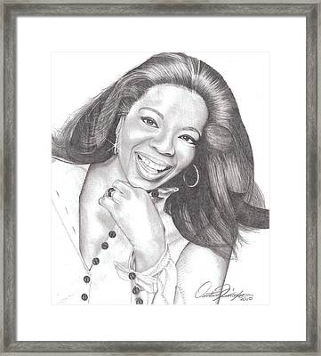 Oprah Framed Print by Dustin Knighton
