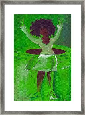 Oprah Hulas Framed Print