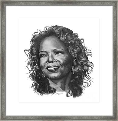 Oprah Framed Print by Marianne NANA Betts
