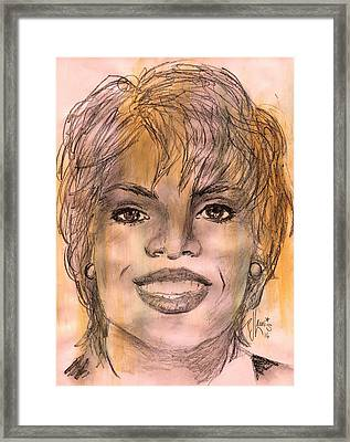 Oprah Framed Print by P J Lewis