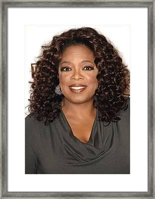 Oprah Winfrey At Arrivals For The Framed Print by Everett