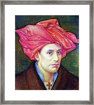 Ops1986001 Self Portrait 14.75x17.75 Framed Print by Alfredo Da Silva