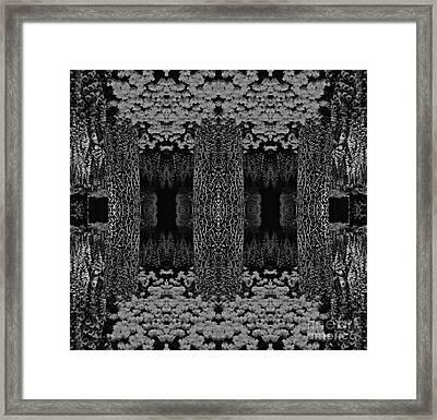 Optical Illusion Framed Print by Amanda Kessel