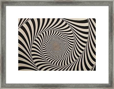 Optical Illusion Beige Swirl Framed Print