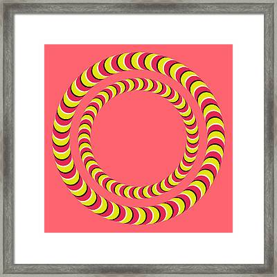 Optical Illusion Circle In Circle Framed Print