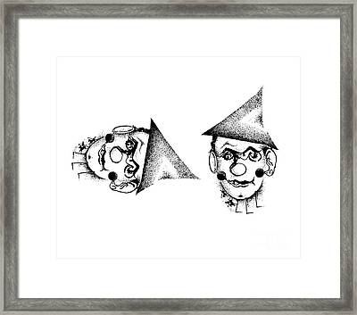 Optical Illusion, Circus Or Clown Framed Print by Science Source