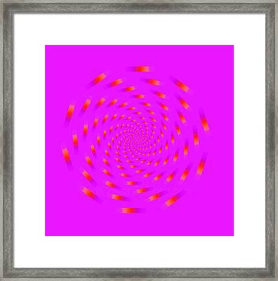 Optical Illusion Spinning Circle Framed Print