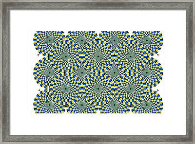 Optical Illusion Spinning Circles Framed Print
