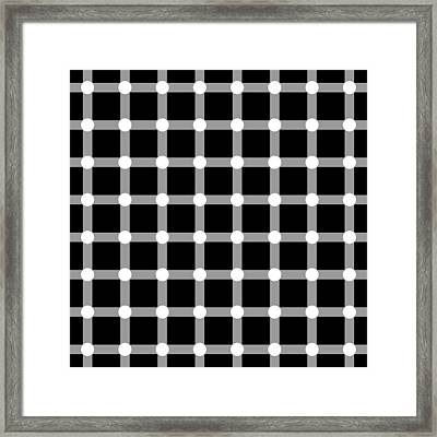 Optical Illusion The Grid Framed Print