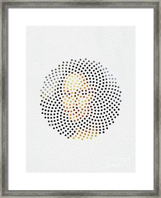 Framed Print featuring the digital art Optical Illusions - Famous Work Of Art 1 by Klara Acel