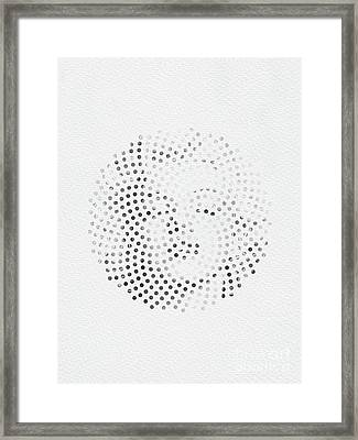 Framed Print featuring the digital art Optical Illusions - Iconical People 1 by Klara Acel