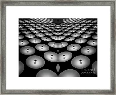 Optical Illusion Light Abstract Framed Print