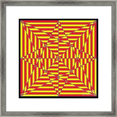 Optical Maze  Framed Print