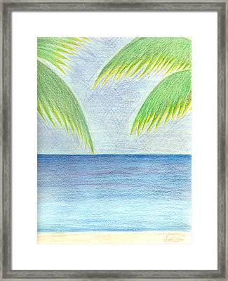 Framed Print featuring the drawing Optimistic Approach by Saad Hasnain