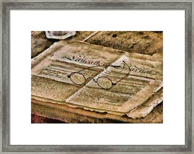 Optometrist - The Lancaster Journal Framed Print by Mike Savad