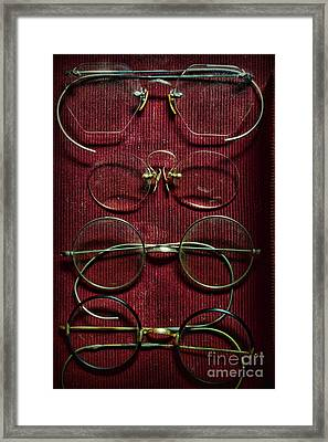 Optometry - Vintage Eyeglasses Framed Print