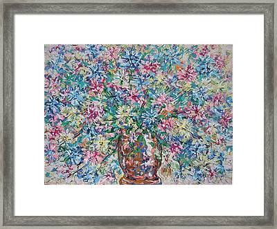 Opulent Bouquet. Framed Print